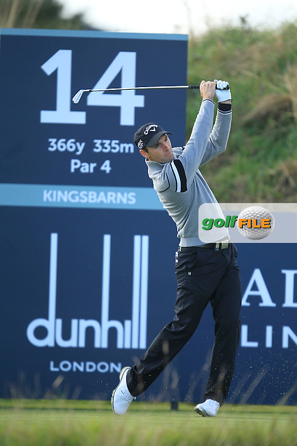 Oliver Wilson (ENG) during Round 1of the Alfred Dunhill Links Championship at Kingsbarns Golf Club on Thursday 26th September 2013.<br /> Picture:  Thos Caffrey / www.golffile.ie