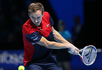 Russian  player and No.4 Seed Daniil Medvedev (RUS)  <br /> London 15/11/2019 O2 Arena <br /> Tennis Nitto ATP Finals 2019 <br /> Photo Melanie Jeusette / Panoramic/ Insidefoto