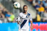 Juninho (19) of the Los Angeles Galaxy. The Los Angeles Galaxy defeated the Philadelphia Union 4-1 during a Major League Soccer (MLS) match at PPL Park in Chester, PA, on May 15, 2013.