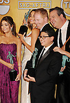 LOS ANGELES, CA - JANUARY 27: Sarah Hyland, Sofia Vergara, Jesse Tyler Ferguson, Eric Stonestreet and Rico Rodriguez pose at the 19th Annual Screen Actors Guild Awards at The Shrine Auditorium on January 27, 2013 in Los Angeles, California.