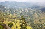 View from the peak of Ella Rock mountain, Ella, Badulla District, Uva Province, Sri Lanka, Asia