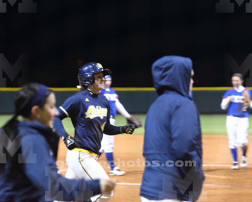 The University of Michigan softball team defeated Louisiana Tech 5-4 in the LSU Classic in Baton Rouge, La., on February 11, 2012.