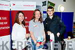 Amy O'Shea, Astellas, Bridget Sheehan, Astellas, and Sean O'Connor at the Careers Fair at Tralee IT on Wednesday.