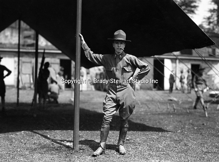 Petersburg VA:  First Lieutenant posing with cigar,  80th Division encampment - 1918