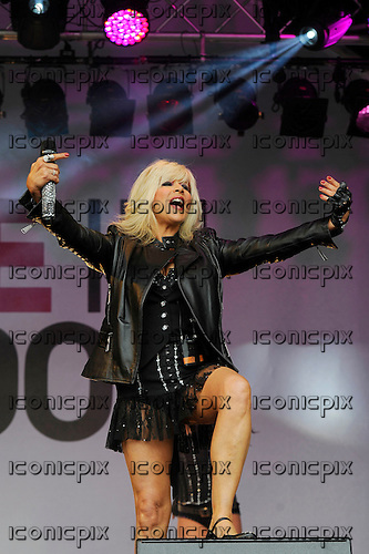 SAM FOX - performing live at Pride London held in Trafalgar Square London UK - 28 Jun 2014.  Photo credit: Zaine Lewis/IconicPix