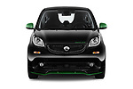 Car photography straight front view of a 2018 Smart fortwo Greenflash 3 Door Hatchback