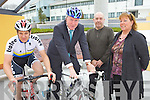 SADDLE UP: Launching the B'Spoke Kerry seminar on developing cycling tourism in the county at the ITT on Monday were, l-r: Peter White (I-Bike), Minister Jimmy Deenihan, Eoin O'Reilly, Eileen McClure (Tourism Entrepreneur Programme)..