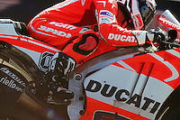Ducati factory rider Andrea Dovizioso at the 2013 Red Bull Indianapolis Moto Grand Prix at Indianapolis Motor Speedway.