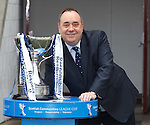 Alex Salmond with the Communities League Cup