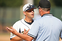 June 5, 2010: Scott Sticklin, head coach of Kent State, during NCAA Regional game against UC Irvine at Jackie Robinson Stadium in Los Angeles,CA.  Photo by Larry Goren/Four Seam Images