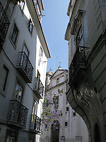 Church of Santa Gloria in Lisbon