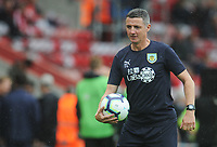 Burnley First Team Coach Tony Loughlan during the pre-match warm-up <br /> <br /> Photographer Kevin Barnes/CameraSport<br /> <br /> The Premier League - Southampton v Burnley - Sunday August 12th 2018 - St Mary's Stadium - Southampton<br /> <br /> World Copyright &copy; 2018 CameraSport. All rights reserved. 43 Linden Ave. Countesthorpe. Leicester. England. LE8 5PG - Tel: +44 (0) 116 277 4147 - admin@camerasport.com - www.camerasport.com