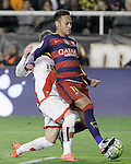 Rayo Vallecano's Adrian Embarba (l) and FC Barcelona's Neymar Jr during La Liga match. March 3,2016. (ALTERPHOTOS/Acero)