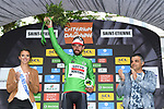 Thomas De Gendt (BEL) Lotto-Soudal wins Stage 1 and also goes into the points green jersey of the Criterium du Dauphine 2017, running 170.5km from Saint Etienne to Saint Etienne, France. 4th June 2017. <br /> Picture: ASO/A.Broadway | Cyclefile<br /> <br /> <br /> All photos usage must carry mandatory copyright credit (&copy; Cyclefile | ASO/A.Broadway)