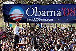 Democratic presidential candidate Senator Barack Obama speaks to supporters during a rally at Rancho Cienega.Sports Complex in Los Angeles Ca. February 20, 2007. Fitzroy Barrett