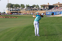 Tommy Fleetwood (ENG) on the 18th fairway during Round 4 of the DP World Tour Championship 2017, at Jumeirah Golf Estates, Dubai, United Arab Emirates. 19/11/2017<br /> Picture: Golffile | Thos Caffrey<br /> <br /> <br /> All photo usage must carry mandatory copyright credit     (© Golffile | Thos Caffrey)