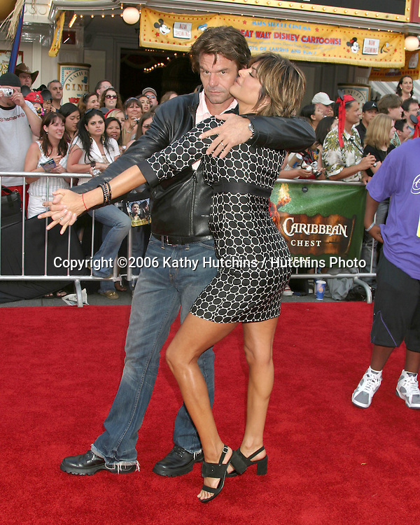 "Harry Hamlin.Lisa Rinna.""Pirates of the Caribbean: Dead Man's Chest"" Premiere.Disneyland .Anaheim, CA.June 14, 2006.©2006 Kathy Hutchins / Hutchins Photo...."
