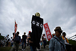 JUNE 28, 2019 - Protestors march and hold signs during the G20 Summit in Osaka, Japan. (Photo by Ben Weller/AFLO) (JAPAN) [UHU]