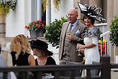 15th September 2017, Doncaster Racecourse, Doncaster, England; The William Hill St Ledger Festival, Gentleman's Day; A gentelman and a lady enjoy a drink