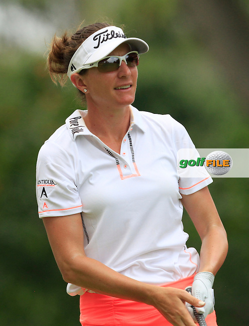 Brittany Lang (USA) on the 9th fairway during Round 2 of the HSBC Women's Champions at the Sentosa Golf Club, The Serapong Course in Singapore on Friday 6th March 2015.<br /> Picture:  Thos Caffrey / www.golffile.ie
