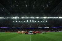 3rd March 2020; Arena da Baixada Stadium, Curitiba, Parana, Brazil; Libertadores Cup, Athletico versus Penarol;  Line-up of players of Athletico and Penarol