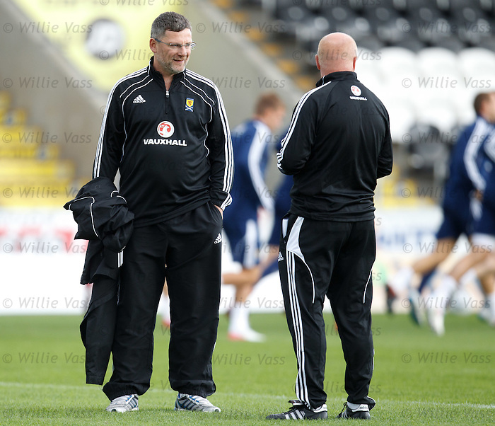 Craig Levein and Peter Houston