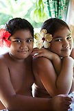FRENCH POLYNESIA, Tahiti. A local family in their home in Papenoo.