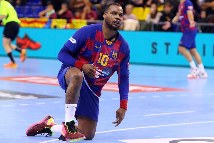 VELUX EHF 2019/20 EHF Men's Champions League Group Phase - Round 8.<br /> FC Barcelona vs Aalborg Handbold: 44-35.<br /> Cedric Sorhaindo.