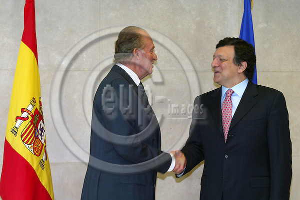 BRUSSELS - BELGIUM - 06 APRIL 2005 --Visit of King Juan Carlos in the European Commission in Brussels where he was welcomed by Jose Manuel BARROSO, President of the EU Commission.--  PHOTO: ERIK LUNTANG / EUP-IMAGES.