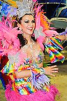 RIO DE JANEIRO, RJ, 20 DE FEVEREIRO DE 2012 - Desfiles das Escolas de Samba do Grupo Especial - Integrantes da Escola de Samba São Clemente, durante o desfile da escola na Marquês de Sapucaí. FOTO GLAICON EMRICH - AGÊNCIA BRAZIL PHOTO PRESS