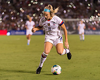 PASADENA, CA - AUGUST 4: Julie Ertz #8 passes the ball during a game between Ireland and USWNT at Rose Bowl on August 3, 2019 in Pasadena, California.