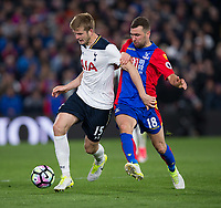 Tottenham Hotspur's Eric Dier vies for possession with Crystal Palace's James McArthur    <br /> <br /> <br /> Photographer Craig Mercer/CameraSport<br /> <br /> The Premier League - Crystal Palace v Tottenham Hotspur - Wednesday 26th April 2017 - Selhurst Park - London<br /> <br /> World Copyright &copy; 2017 CameraSport. All rights reserved. 43 Linden Ave. Countesthorpe. Leicester. England. LE8 5PG - Tel: +44 (0) 116 277 4147 - admin@camerasport.com - www.camerasport.com