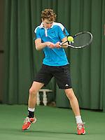 Rotterdam, Netherlands, Januari 24, 2016,  ABNAMROWTT Supermatch, Stijn Colenbrander (NED)<br /> Photo: Tennisimages/Henk Koster