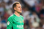 Goalkeeper Marc-Andre Ter Stegen of FC Barcelona looks on during their Supercopa de Espana Final 2nd Leg match between Real Madrid and FC Barcelona at the Estadio Santiago Bernabeu on 16 August 2017 in Madrid, Spain. Photo by Diego Gonzalez Souto / Power Sport Images