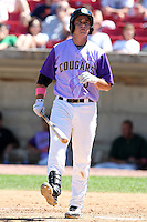 Kane County Cougars first baseman Anthony Aliotti during a game vs. the Peoria Chiefs at Elfstrom Stadium in Geneva, Illinois August 15, 2010.   Peoria defeated Kane County 8-4.  Photo By Mike Janes/Four Seam Images