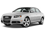 Low aggressive front three quarter view of a 2005 - 2008 Audi A4 3.2 Sedan.