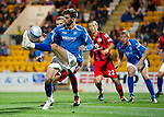 St Johnstone v St Mirren...20.09.11   Scottish Communities League Cup Third Round.Cillian Sheridan tries an overhead kick.Picture by Graeme Hart..Copyright Perthshire Picture Agency.Tel: 01738 623350  Mobile: 07990 594431