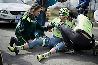 Jay McCarthy (Aus/Tinkoff) crashed in the feed zone and abandoned <br /> <br /> 71st Dwars door Vlaanderen (1.HC)