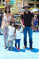 """LOS ANGELES - JUL 23:  Courtney Mazza, Gia Lopez, Dominic Lopez, Mario Lopez at """"The Emoji Movie"""" Premiere at the Village Theater on July 23, 2017 in Westwood, CA"""