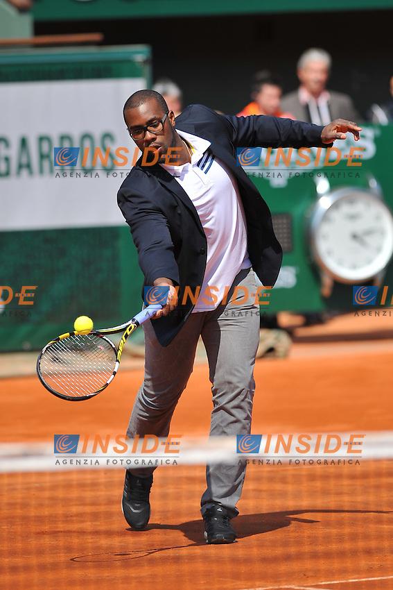 Teddy Riner .Parigi 25/5/2013 Roland Garros .Tennis Grande Slam .Esibizioni .Foto Panoramic / Insidefoto .ITALY ONLY