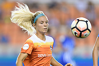 Houston, TX - Saturday July 22, 2017: Rachel Daly during a regular season National Women's Soccer League (NWSL) match between the Houston Dash and the Boston Breakers at BBVA Compass Stadium.