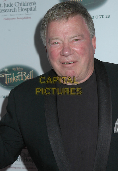 "WILLIAM SHATNER .5th Annual ""Runway For Life"" Benefiting St. Jude Children's Research Hospital held at the Beverly Hilton Hotel, Beverly Hills, California, USA. .October 11th, 2008.headshot portrait black suit jacket .CAP/ADM/MJ.©Michael Jade/AdMedia/Capital Pictures."