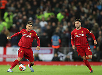 24th February 2020; Anfield, Liverpool, Merseyside, England; English Premier League Football, Liverpool versus West Ham United; Roberto Firmino of Liverpool controls the ball as Liverpool break forward