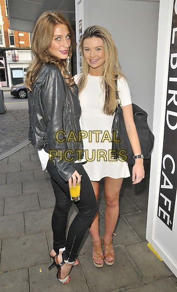 LONDON, ENGLAND - MAY 04: Olivia Newman-Young &amp; Georgia Toffolo attend the Bluebird Brunch launch party, an all-day-party-come-brunch each Sunday, Bluebird bar &amp; restaurant, King's Rd., on Sunday May 04, 2014 in London, England, UK.<br /> CAP/CAN<br /> &copy;Can Nguyen/Capital Pictures