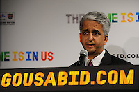 U.S. Soccer President and USA Bid Committee Chairman Sunil Gulati announces the 18 cities to be submitted to FIFA as part of the bid to host the 2018 or 2022 FIFA World Cup at the ESPN Zone in Times Square, NYC, NY, on January 12, 2010.