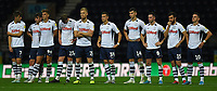 Preston North End players wait nervously for the progression of the penalties<br /> <br /> Photographer Dave Howarth/CameraSport<br /> <br /> The Carabao Cup Second Round - Preston North End v Hull City - Tuesday 27th August 2019  - Deepdale Stadium - Preston<br />  <br /> World Copyright © 2019 CameraSport. All rights reserved. 43 Linden Ave. Countesthorpe. Leicester. England. LE8 5PG - Tel: +44 (0) 116 277 4147 - admin@camerasport.com - www.camerasport.com
