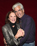 Director Steve Bakunas and Linda Lavin at The Red Barn Studio Theatre Off-Broadway production of 'Positions' at the Roy Arias Studio Theatre on October 10, 2012 in New York City.