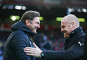 2nd February 2019, Turf Moor, Burnley, England; EPL Premier League football, Burnley versus Southampton; Burnley manager Sean Dyche and Ralph Hasenhuttl , manager of Southampton shake hands before the match