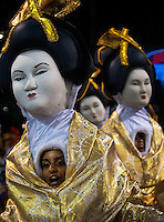 Members of Uni√£o da Ilha samba school perform during parade at the Sambadrome, Rio de Janeiro, Brazil, March 3, 2014.  (Austral Foto/Renzo Gostoli)