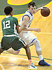 Steven Torre #12 of Kellenberg, right, gets pressured by Camren Wynter #12 of Holy Trinity during the NSCHSAA varsity boys basketball semifinals at LIU Post on Sunday, Feb. 28, 2016. Torre scored 23 points in Kellenberg's 55-49 win.